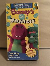 Barney And Friends Collection Barneys Best Manners VHS 1993