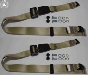 Static Lap Belt Set For Vauxhall Manta A, Manta B up To '81, Beige 11 13/16in