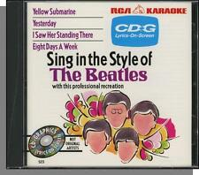 Karaoke CD+G - Sing In The Style of The Beatles - New 4 Song RCA CD!