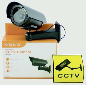 Kingavon Dummy CCTV Camera Black with Flashing LED - Battery operated