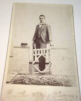 Rare Antique Victorian American ID'd Gent Will Brown! South Dakota Cabinet Photo