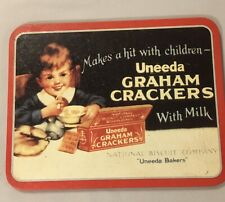 Uneeda Graham Crackers With Milk Vintage Tin Sign