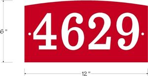 Custom address number sign Personalized With arched top Aluminum plaque