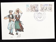 France 1981 FDC 2 Sets Europa Music Dancing Stamps  Cover