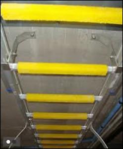 Ladder Rung Covers Half Round & U shape. Anti Slip GRP Rung Covers