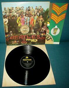 THE BEATLES Sgt Peppers ORIG UK Black & Yellow PARLOPHONE 1967 + Insert -1 -1