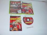 BORDERLANDS game complete in case w/ manual for Microsoft XBOX 360