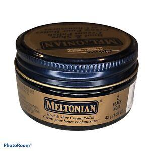 Meltonian #2 Black Noir Boot & Shoe Cream Polish 1.55 oz NEW Unsealed