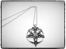 Vintage Style Pentagram Necklace,Skull,Goats Head,Devil,Wicca,Star,Gift Idea