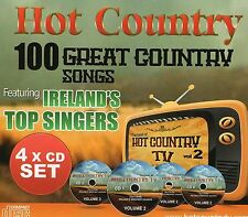 HOT COUNTRY - 100 GREAT COUNTRY SONGS  FEAT. IRELAND'S  TOP ARTISTS 4CD SET