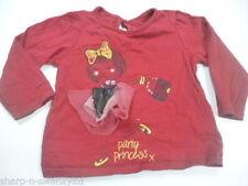 T-shirt rouge pour fille de 0 à 24 mois
