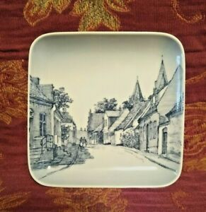 Royal Copenhagen Bing & Grondahl Square Pin Dish Praestegade Kalundborg 9568/455