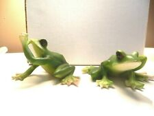 2 Resin Frog Figurines