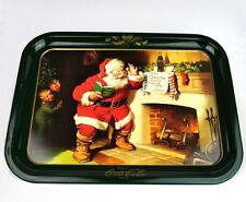 COCA-COLA COKE tôle Tablette USA Plateau de service Père Noël cheminée + ENFANTS