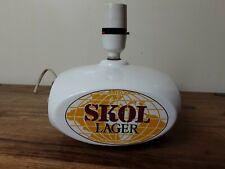 More details for vintage 1970s/80s skol lager advertising table lamp light