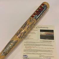 Beautiful 1975 Boston Red Sox AL Champions Team Signed Cooperstown Bat JSA COA