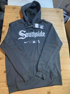 """Nike Anthracite Chicago White Sox """"Southside"""" City Connect Therma Hoodie LARGE"""