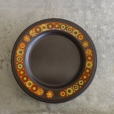 4 Retro Staffordshire Pottery Hermes Kiln Craft Side Plates England 16.8cm Brown