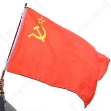 WW2 Soviet Flag - Repro Russian Communist Hammer Sickle Red Army New Large