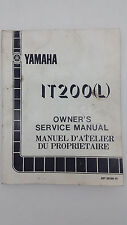 Yamaha Motorbike IT200(L) Factory Owners Service Manual. 1st ed., December 1983