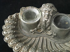 Bacchus encrier Inkwell Antique French 19 ème siècle Vide Poche