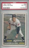 1957 Topps baseball card #96 Hank Aguirre, Cleveland Indians graded PSA 4 VGEX
