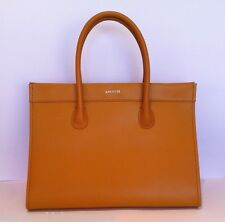 LACOSTE Genuine Leather 'INCA GOLD' Large Shopping Bag Tote Satchel Handbag NWT