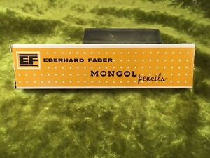 NOS Vtg WOODCLINCHED Eberhard Faber Mongol 482 Diamond Star #2 Pencils 12 + Box