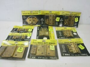 Vintage Lot of Brass Butt Hinges NOS Made in USA