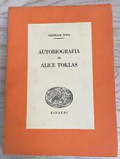 GERTRUDE STEIN-CESARE PAVESE-AUTOBIOGRAFIA DI ALICE TOKLAS-Einaudi 1938-RARA 1ED