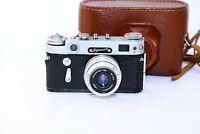 Zorki-6 VINTAGE Soviet Rangefinder Film Camera copy Leica w/s lens industar-50