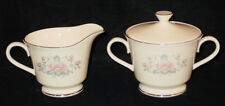 DISCONTINUED LENOX CHINA CHARLESTON PATTERN COVERED CREAM & SUGAR SET NEW
