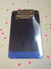Plastic Memo Clipboard Black & Blue 2 Pack Durable Plastic Organize Paper Pads