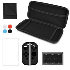 kwmobile 10-in-1 Accessory Set Nintendo Switch Bag Screen Protective Film Case