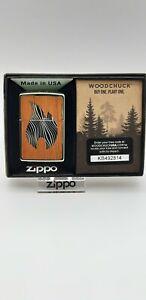Original Zippo Woodchuck - Zippo Flame - Mint Ice  2018 -  Neu