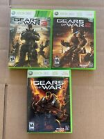 Gears of War 1, 2 and 3 Microsoft Xbox 360 Lot of 3 Games TESTED!
