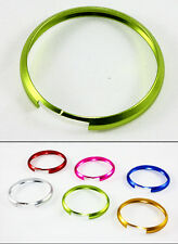 GREEN ALUMINUM RING TRIM FOR 2007 & UP MINI COOPER SMART KEY ENTRY FOB KEYCHAIN