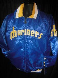 Seattle Mariners MLB Men's Quilt Lined Front Zipper Starter Jacket