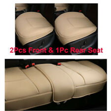 New Beige PU Leather Front/back/Rear Car Seat Protector Seat Cover Accessories