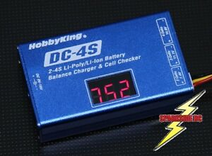 Lipo Balance charger 2s - 3s - 4s Turnigy DC-4S 12 Volt