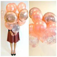5/10/20pcs Rose Gold Balloons Wedding Decoration Latex Balloons Birthday Party