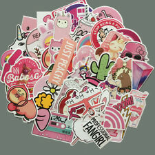 50pcs/Lot Cute Anime Kwaii Pink Stickers For Skateboard Luggage Laptop Car Vinyl