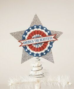Bethany Lowe 4th Of July America The Beautiful Tree Topper TF9108 New