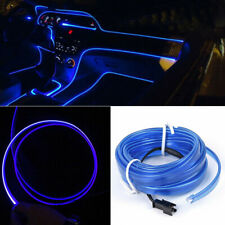 16.5FT LED Wire Strip Blue Lamp Car Interior Atmosphere Lights Decor Accessories