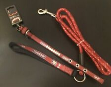 "NEW NCAA Auburn Tigers Football Dog Collar  Leather Leash 1/2-12"" NWT"