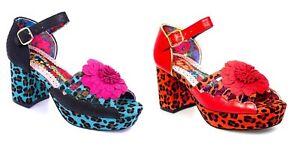 Irregular Choice Boogie Woogie High Heel Platforms Sandals Shoes - 2 Colours