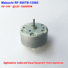 Mabuchi RF-500TB-12560 Mini Round DC Motor DC 5V-12V 5500RPM 32mm Diameter
