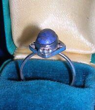 Vintage Sterling Silver Ring ~ Lapis Lazuli Cabochon ~ 925 size 6