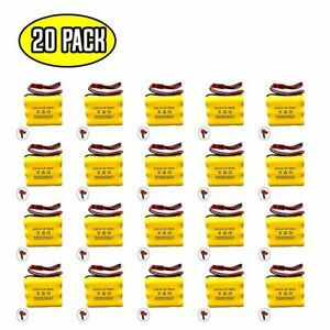 (20 pack) 3.6v 700mAh Ni-CD Battery Pack Replacement for Emergency / Exit Light