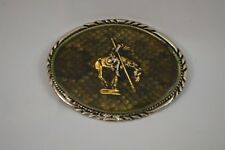 S.S.I. The End of The Trail  Rattle Snake Skin Western  Belt Buckle  (19)